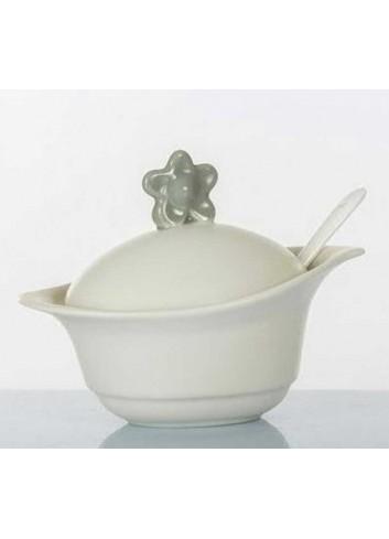 Zuccheriera con fiore grigio D5692 Cuor Fiorito Cuorematto