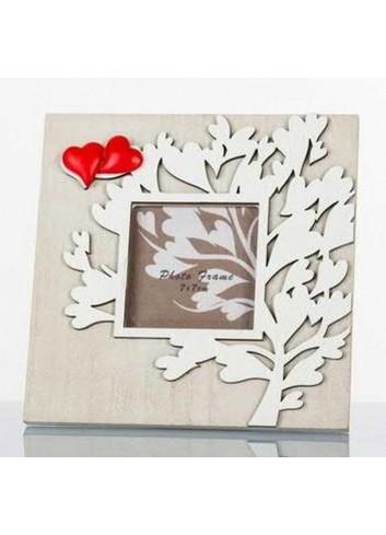 Portafoto albero della vita in legno 6 x 6 cm D5712 Cuoregaio Cuorematto