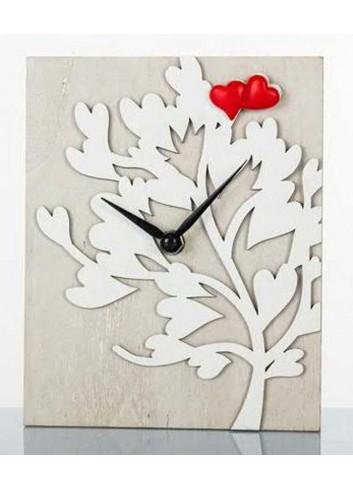 Orologio 16 x 20 cm albero della vita in legno D5719 Cuoregaio Cuorematto