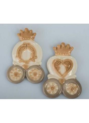 Carrozza magnete in porcellana 2 modelli assortiti D5709 Cuore in Favola Cuorematto