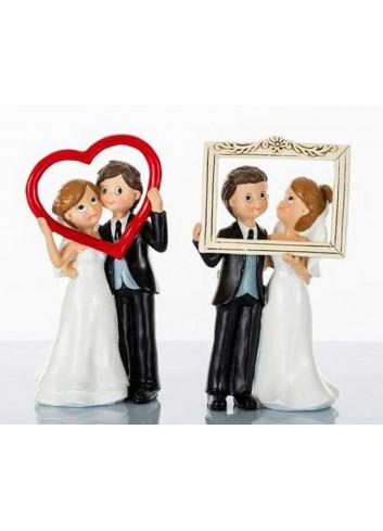 Sopratorta cornici sposi D5626 W gli sposi Cuorematto