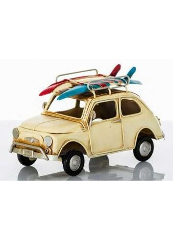 Auto antica con luce led e surf  D5622 Cuorveloce Cuorematto