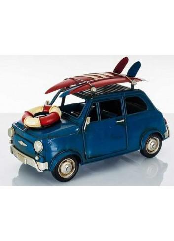 Auto antica blu con surf D5624 Cuorveloce Cuorematto
