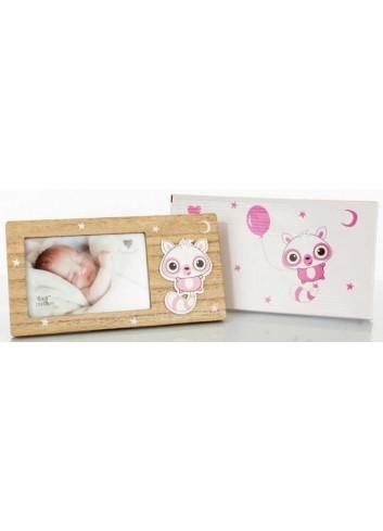 Portafoto in legno/rosa 10 x 15 H. cm D5803 Poldina Cuorematto