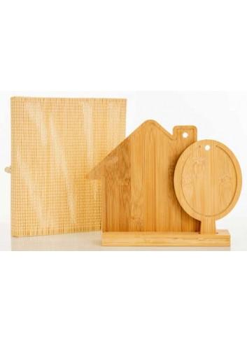 Set 2 taglieri Casetta ed Albero in bambù D5822 Taglieri Cuorematto