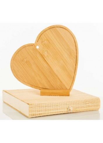 Tagliere d'arredo Cuore in bambù 20 x 18 cm D5824 Taglieri Cuorematto