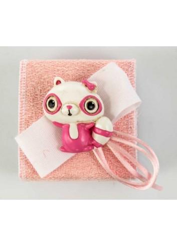 Scatola in plex con lemure color rosa D5980 Scatoline Cuorematto