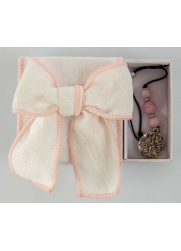 Scatola con fiocco bordino rosa - portaconfetti - braccialetto 3 modelli assortiti D5985 Scatoline Cuorematto
