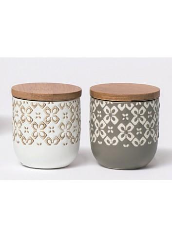 Barattolo in ceramica 2 colori assortiti Mikonos A5801 A5802 AD Emozioni
