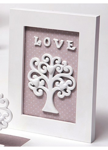 Quadretto Love Albero della vita bianco in resina A5602/B1 Life in love AD Emozioni