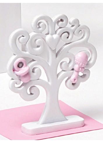 Albero della vita rosa piccolo in resina A5601/B2 Life in love AD Emozioni