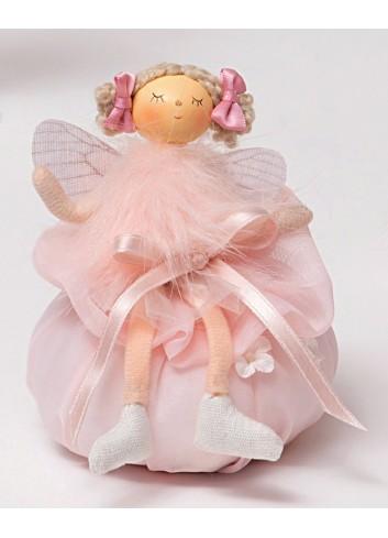 Angelo rosa piccolo con sacchettino A3901/A Dolly AD Emozioni