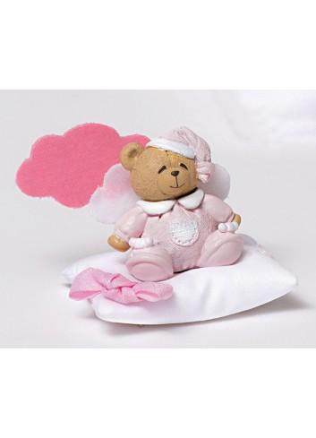 Magnete orsetto rosa + cuscino portaconfetti e nuvoletta 130451-A2 Teddy Ad Emozioni