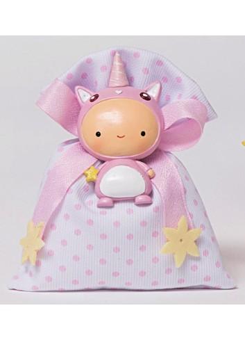 Magnete unicorno rosa con sacchettino 130441/A Rainbow AD Emozioni