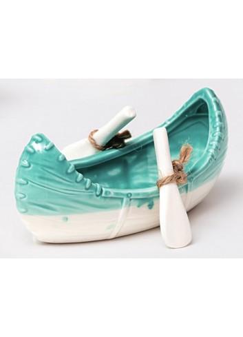 Canoa in ceramica bianco/tiffany Summer A4703/22 AD Emozioni