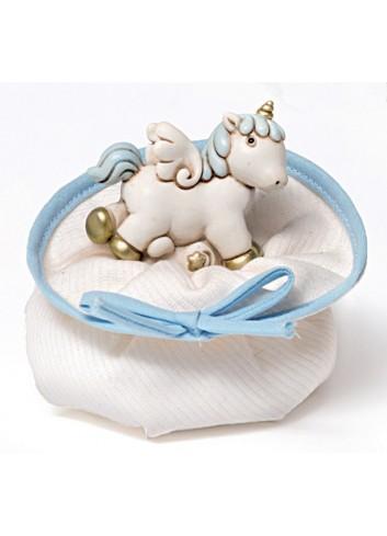 Unicorno piccolo in poliresina + sacchettino 130342-A3 Pegaso Ad Emozioni