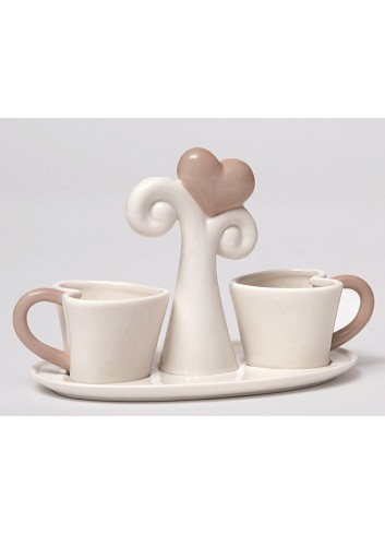 Tazzine da caffè in porcellana Cuori A4204 AD Emozioni