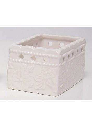 Porta tea a fiori in porcellana Dolci Momenti A5006 AD Emozioni