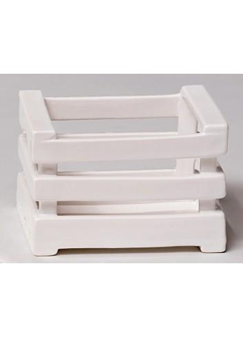 Cassetta in ceramica bianca Storage A5401 A5402 A5403 AD Emozioni