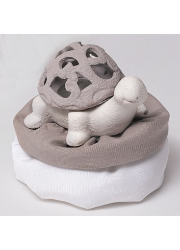 Scatolina tartaruga in porcellana + sacchetto A3403 A Mediterraneo Ad Emozioni