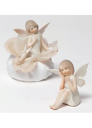 Fatina in porcellana 2 modelli assortiti + sacchetto P9001-A5 Dolce Luna Ad Emozioni