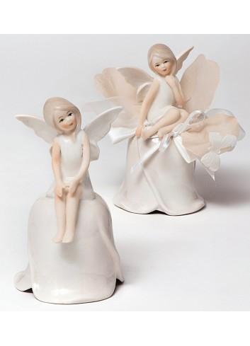 Fatina grande su campana in porcellana 2 modelli assortiti + sacchetto P9003-A5 Dolce Luna AD Emozioni