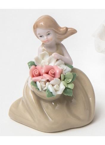 Damina piccola beige in porcellana A2101 Damine Ad Emozioni