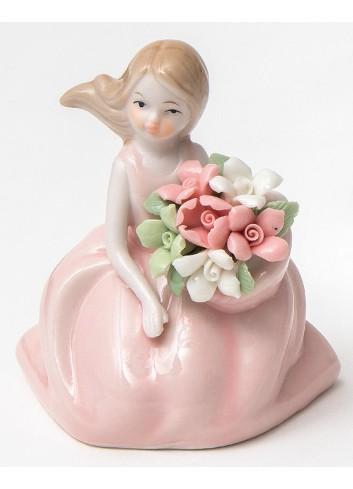 Damina piccola rosa in porcellana A2102 Damine Ad Emozioni