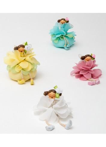 Fatina fiore 4 colori assortiti + sacchetto 130471/A Trilly AD Emozioni