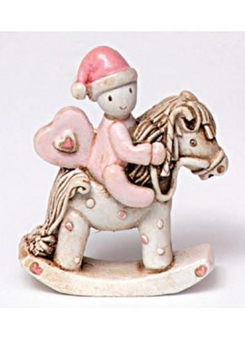 Cavallino a dondolo piccolo in poliresina 130401/2 Ninna Nanna Ad Emozioni