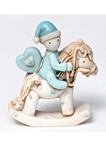 Cavallino a dondolo piccolo in poliresina 130401/3 Ninna Nanna Ad Emozioni