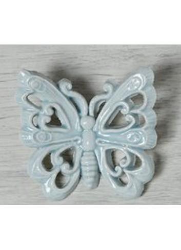 """Farfalla decoro """"Cuore"""" in ceramica porcellanata artigianale pugliese"""