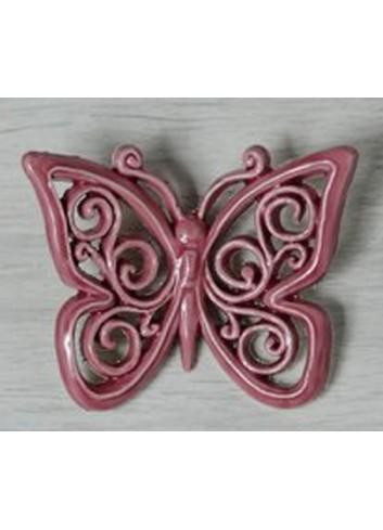 """Farfalla decoro """"Onde"""" in ceramica porcellanata artigianale pugliese"""