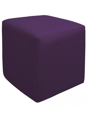 Pouf in ecopelle Viola