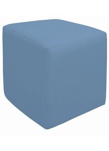 Pouf in ecopelle Celeste