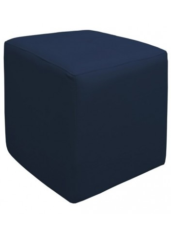Pouf in ecopelle Blu