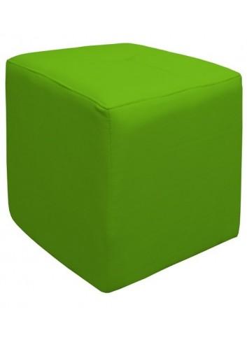 Pouf in ecopelle Verde Chiaro