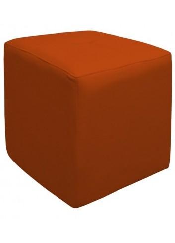 Pouf in ecopelle Arancione