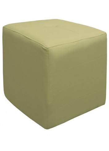 Pouf in ecopelle Beige