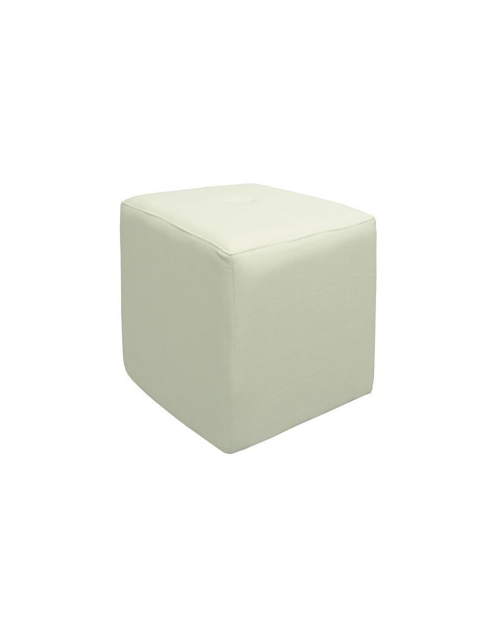 Pouf in ecopelle Bianco made in Italy in promozione- Wonderlandstore.eu