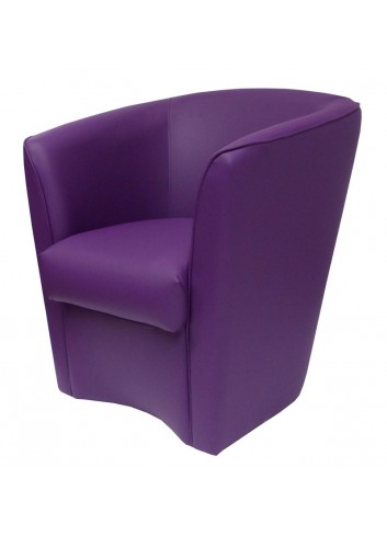 Poltroncina in ecopelle viola