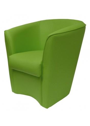 Poltroncina in ecopelle verde prato