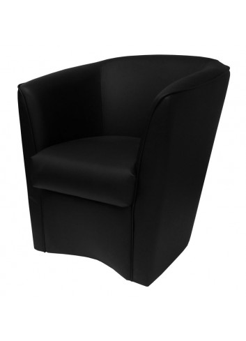 Poltroncina in ecopelle nero