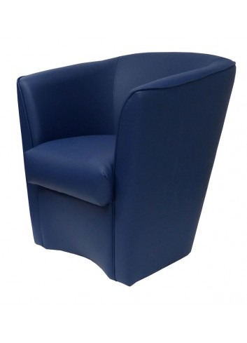 Poltroncina in ecopelle blu