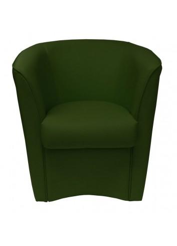 Poltroncina in ecopelle verde smeraldo