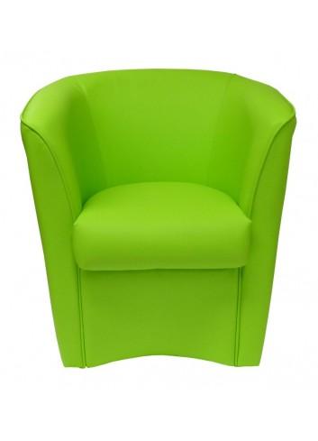 Poltroncina in ecopelle verde chiaro