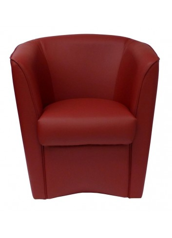 Poltroncina in ecopelle bordeaux
