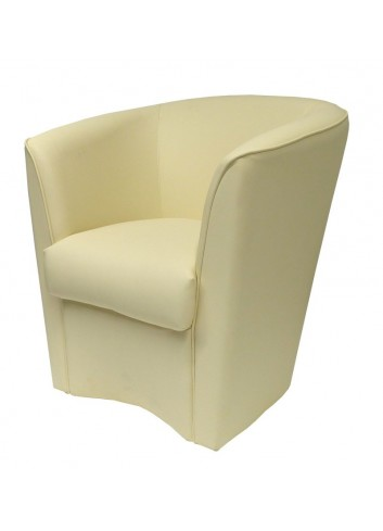Poltroncina in ecopelle beige