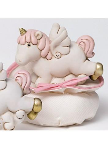 Salvadanaio Unicorno in poliresina con sacchettino 130343/A2 Pegaso Ad Emozioni
