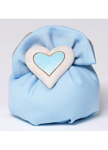 Magnete cuore in poliresina con sacchetto 130404/A3 Ninna Nanna Ad Emozioni
